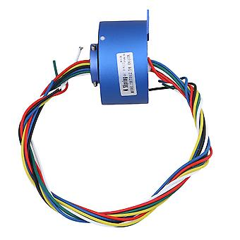 6Way 380V 10A 12.7mm Dia Via Hole Capsule Slip Ring for Monitor Robotic