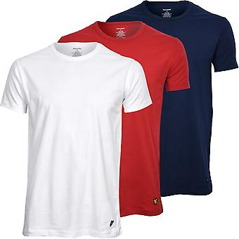 Lyle & Scott 3-Pack Crew-Neck Lounge T-Shirts, Red/White/Navy
