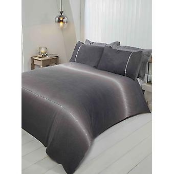 Diamante Teddy Fleece Bedding Duvet Cover Set