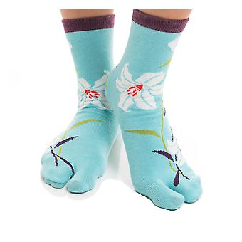 Flip Flop Tabi Socks - Blue Hawaiian - 1 Pair