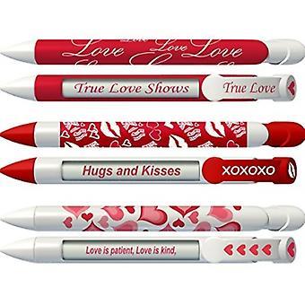 36569, Love Pen Set By Greeting Pen- Love Pen Set Rotating Message 6 Pen Set- 36569