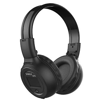 Zealot B570 Wireless Headphones with LED Display and FM Radio - Bluetooth 5.0 Wireless Headphones Stereo Studio Black