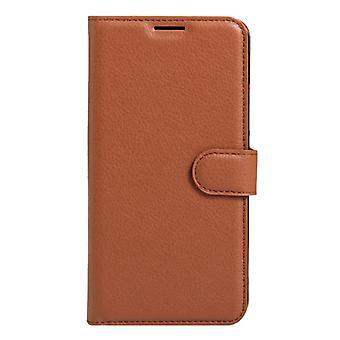 För Xiaomi Redmi Note 4 Litchi Textur horisontellt Flip läderfodral med hållare & Kortplatser & Plånbok(Brun)