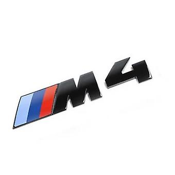 Gloss Black BMW M4 Letters Rear Boot Lid Trunk Badge Emblem For F32 115mm x 25mm