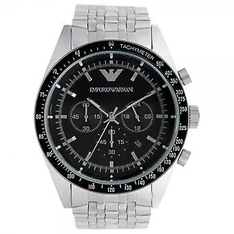 Armani Ar5988 Mens Silver Tazio Classic Horloge