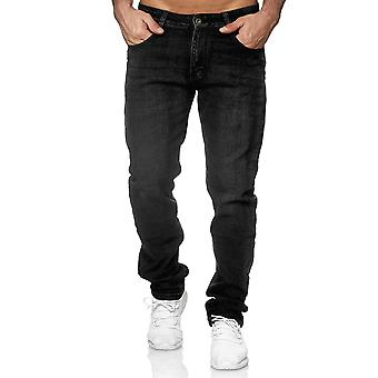 Men's Jeans Trousers Denim Pants Classic Slim Used Washed Regular Waist Bottoms
