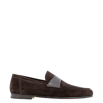 Santoni Mcpt16400wa2soeat50 Men's Brown Suede Loafers