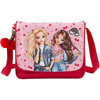 Depesche Topmodel Shoulder Messenger Bag Red Hearts Pink Cherry Bomb A4