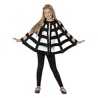 Kinder schwarz Spinne Cape Halloween Fancy Kleid