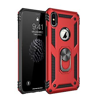 Armor Bumper Shockproof Phone Case,  Military Finger Ring Kickstand Back Cover
