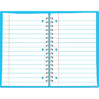 "Smart Poly Open Spiral Notebook Page Chart, Dry-Erase Surface, 17"" X 22"""