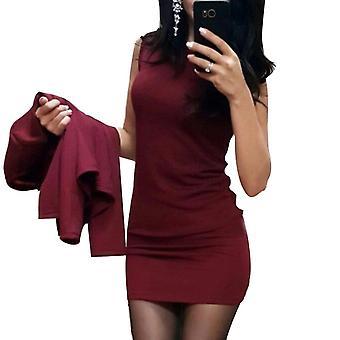 Women's Σέξι θήκη O-λαιμό Μίνι Φόρεμα Casual Παλτό Δύο Κομμάτια Στερεά Επίσημα Κοστούμια