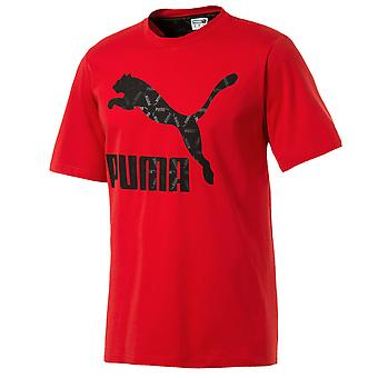 Puma Luxe Pack Tee Mens Logo Graphic T-Shirt Red 578811 11