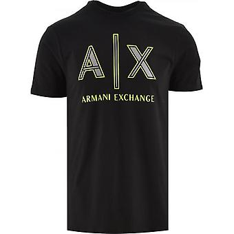Armani Exchange Black Regular Fit T-Shirt
