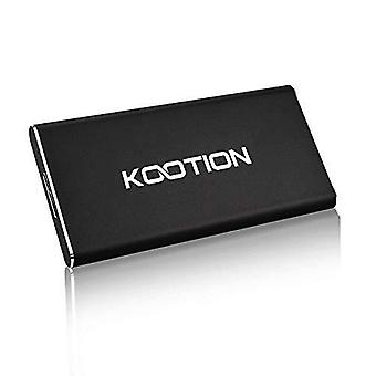 Kootion 120gb portable external ssd usb 3.0 high speed read & write up to 400mb/s&300mb/s external s