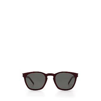 Saint Laurent SL 28 SLIM burgundy unisex sunglasses