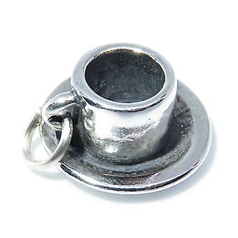 Espresso Coffee Cup Sterling Silver Charm .925 X 1 Coffees Charms - 8295