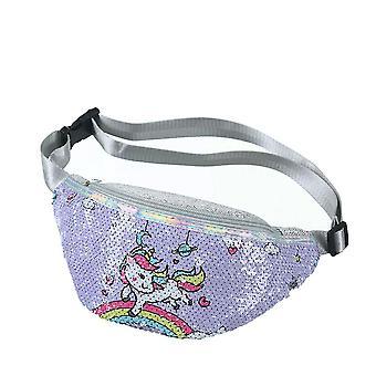 Cartoon Unicorn Waist Shoulder Belt Bag
