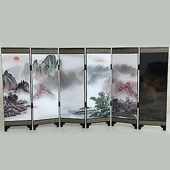 1 Pcs Wooden Chinese Style Vintage Retro Small Folding Panel Screen Room