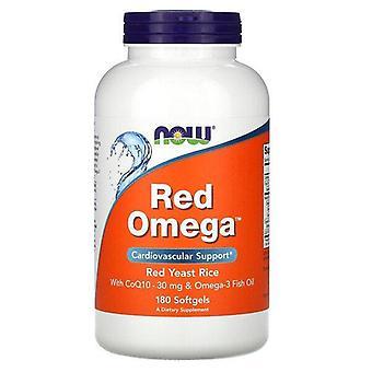 Maintenant Aliments, Red Omega, Riz à levures rouges avec CoQ10, 30 mg, 180 Softgels