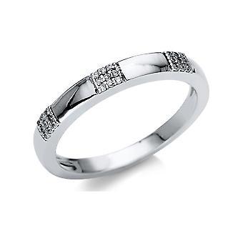 לונה יצירה Promessa טבעת מרובים אבן לקצץ 1U122W851-1 - רוחב טבעת: 51