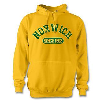 Norwich City 1902 establecidas fútbol sudadera con capucha