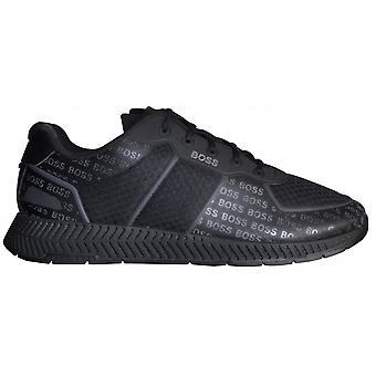 Hugo Boss Footwear Hugo Boss Men's Black Titanium Runn Memlig Trainers