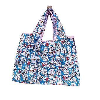 Cartoon Cute Green Bag Shopping Bag Folding Portable Storage Bag