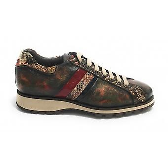 Herrskor Harris Sneakers Fine Leather Mocha/ Moose Carnival/ Röd U17ha150