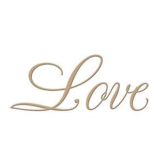 Spellbinders Glimmer Plate - Paul Antonio - Copperplate Script Love