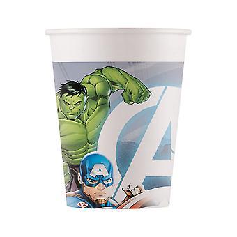 8 Gobelets en carton Avengers 200 ml
