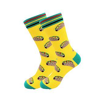 Sick Socks -tacos (yellow)- International Food Dress Socks