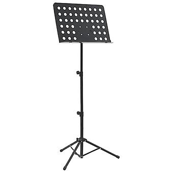 vidaXL Music stand Black steel