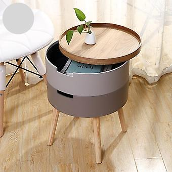 Small Storage Cabinet Sofa Side Round Table