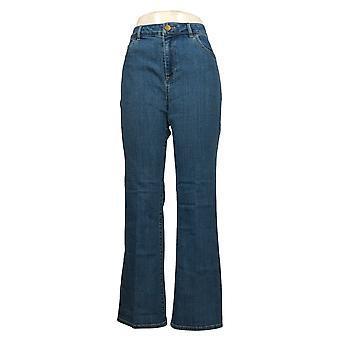LOGO بواسطة لوري غولدشتاين المرأة جينز 5-جيب Bootcut الأزرق A354558