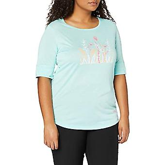 CMP Leichtes Melange-T-Shirt mit Sonnenschutz UPF 40, Woman, Jade Mel, D44