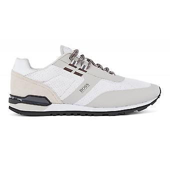 Hugo Boss Footwear Hugo Boss Men's Open White Parkour Runn Me Trainers