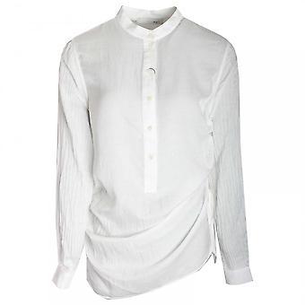 Oui Grandad Style Collar Long Blouse