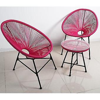 יצירתי נושם ירח כבד טעינה פלסטיק מרפסת כיסאות שולחן להגדיר