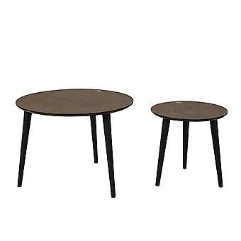 SoBuy conjunto de 2, mesa lateral de madeira aninhamento, FBT40-BR