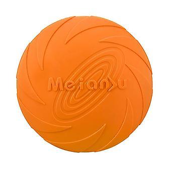 L 22cm orange dog flying disc toy 5.9/7.1/8.7inch,pet training rubber frisbee,floating water dog toy interactive toys az7978