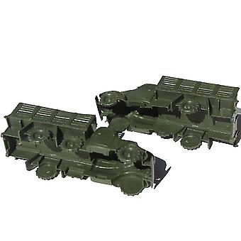 New 2pcs Army Big Truck Figures Military Transport Vehicle Toy Green ES12779