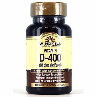 Windmill Health Vitamin D, 400IU 250 Tabs