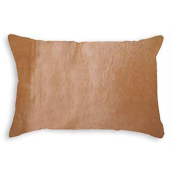 """12"""" x 20"""" x 5"""" Tan Cowhide  Pillow"""