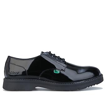 Women's Kickers Finley Lace Up Patent Shoes in Black