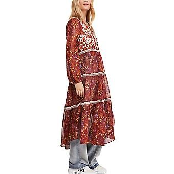 Free People Womens Call On Me Embroidered Maxi Top