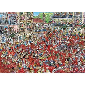 Jan Van Haasteren La Tomatina - The Tomato Battle Jigsaw Puzzle (1000 Pieces)