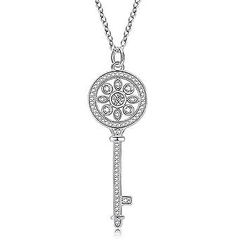 Wisiorek T Key Antiallergy Sweater Chain Diamond Silver Women Naszyjnik na piłkę