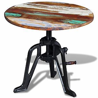 """שולחן צדדי vidaXL פסולת ברזל יצוק עץ 60x(42-63) ס""""מ"""