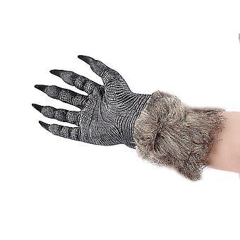 Vlk vlčie labky Halloween Cosplay rukavice strašidelné kostým divadelné hračky